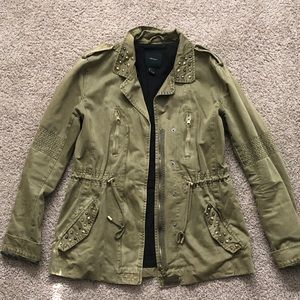 Army Green Jacket with Studs